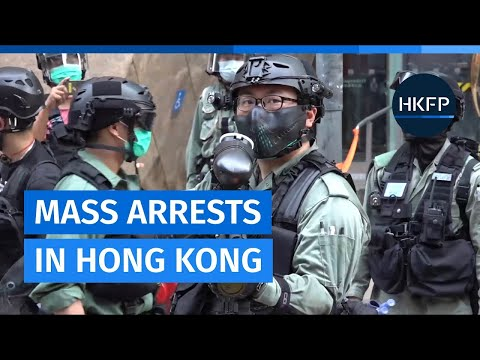 Hong Kong police conduct mass arrests in Mong Kok during #protest against Beijing encroachment