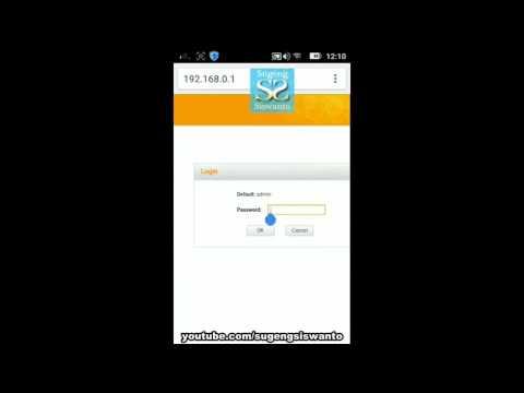 Setting Password Login Tenda N300/F3 Wireless Router Via HP