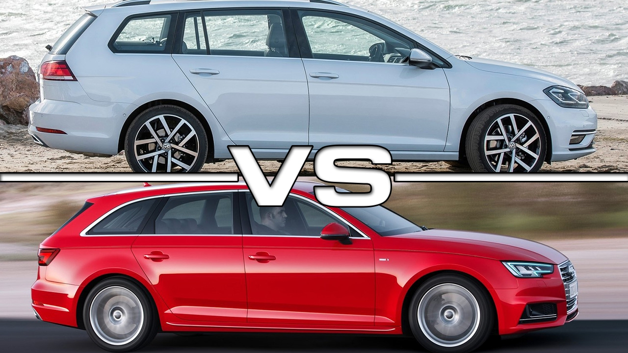 2018 Volkswagen Golf Variant Vs 2016 Audi A4 Avant Youtube