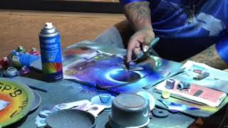 Spray Paint Art on a Surfboard