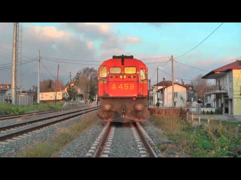 MLW on freight trains in northern Macedonia Greece December 2015.