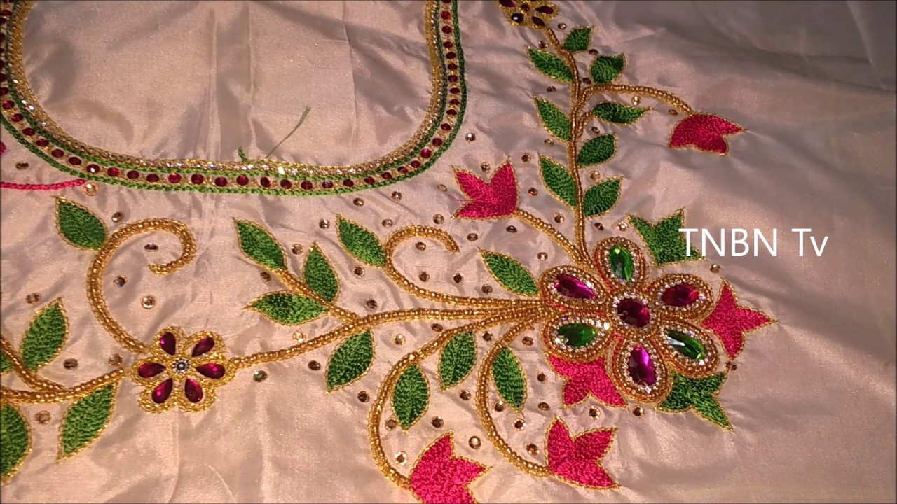 flower embroidery designs for blouse home design ideas