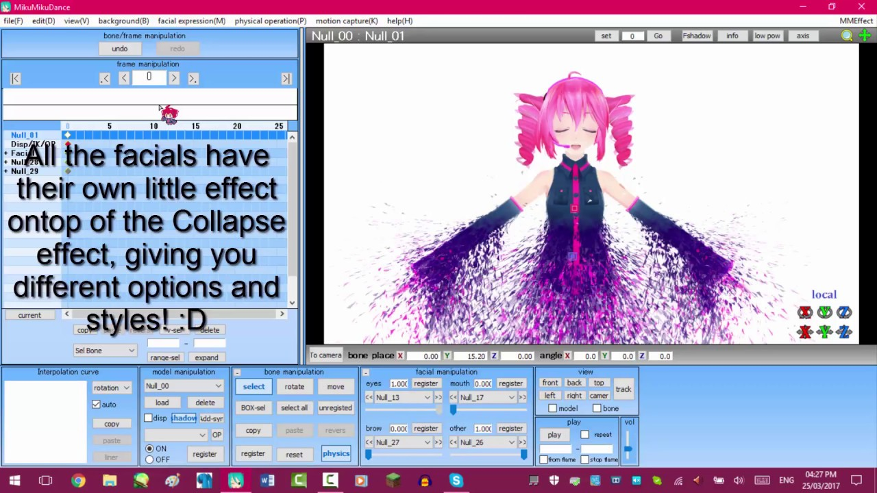 [MMD/MME/PMXE] Collapse Effect tutorial [Turn down volume XD]