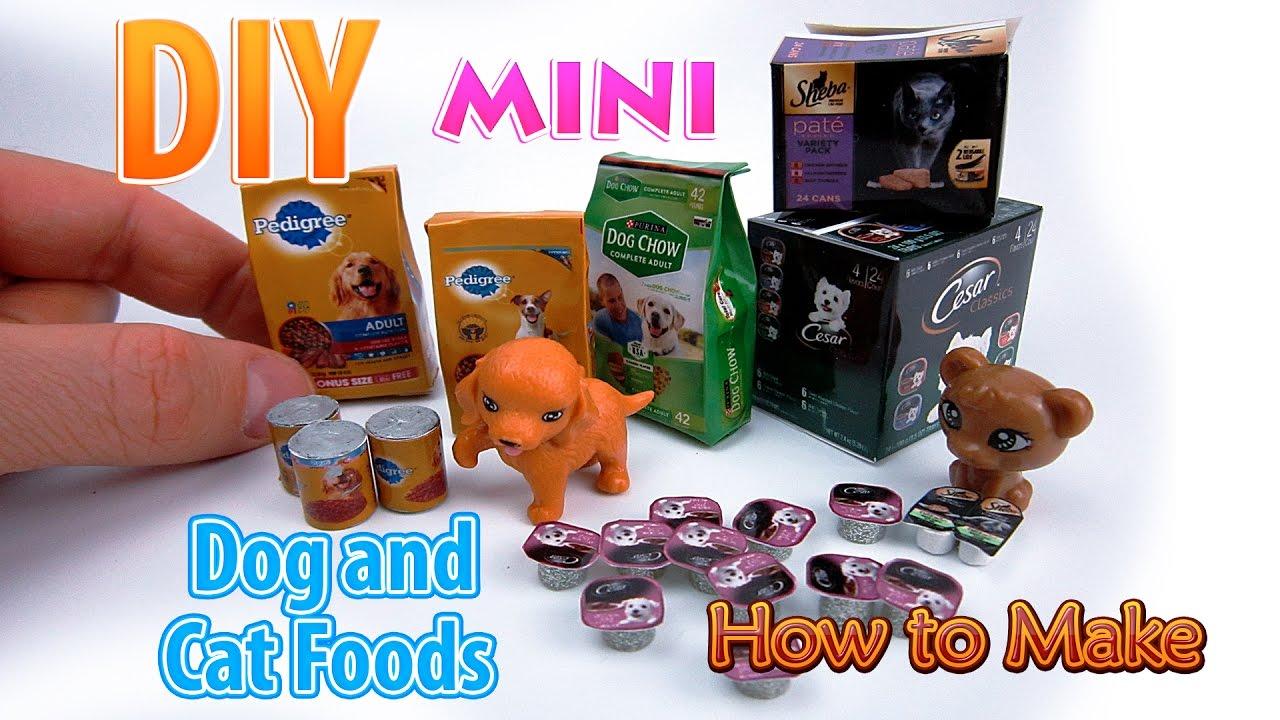 Dollhouse Miniature Dogs Food