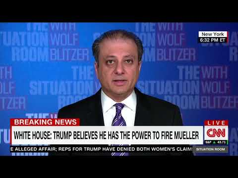 Preet Bharara Calls Out Sarah Sanders for Saying Trump Has Authority to Fire Mueller