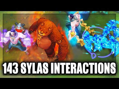 All 143 Sylas Ultimate Test Interactions - All Sylas Ult Interactions (League of Legends)