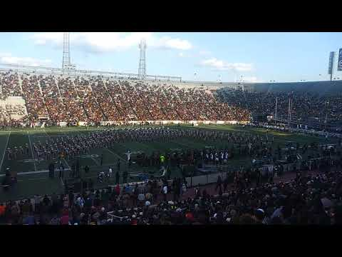 Alabama A & M University Marching Band Halftime 2018 Magic City Classic