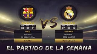 FIFA 15   BARCELONA - REAL MADRID   EL CLASICO   VS PUMUSCOR