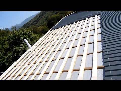 Крыша из профнастила односкатная своими руками