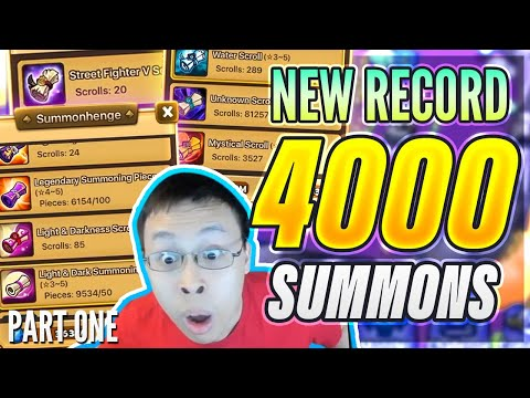 4,000+ Scrolls On 1 Account?! - World Record Summon Session! Part 1