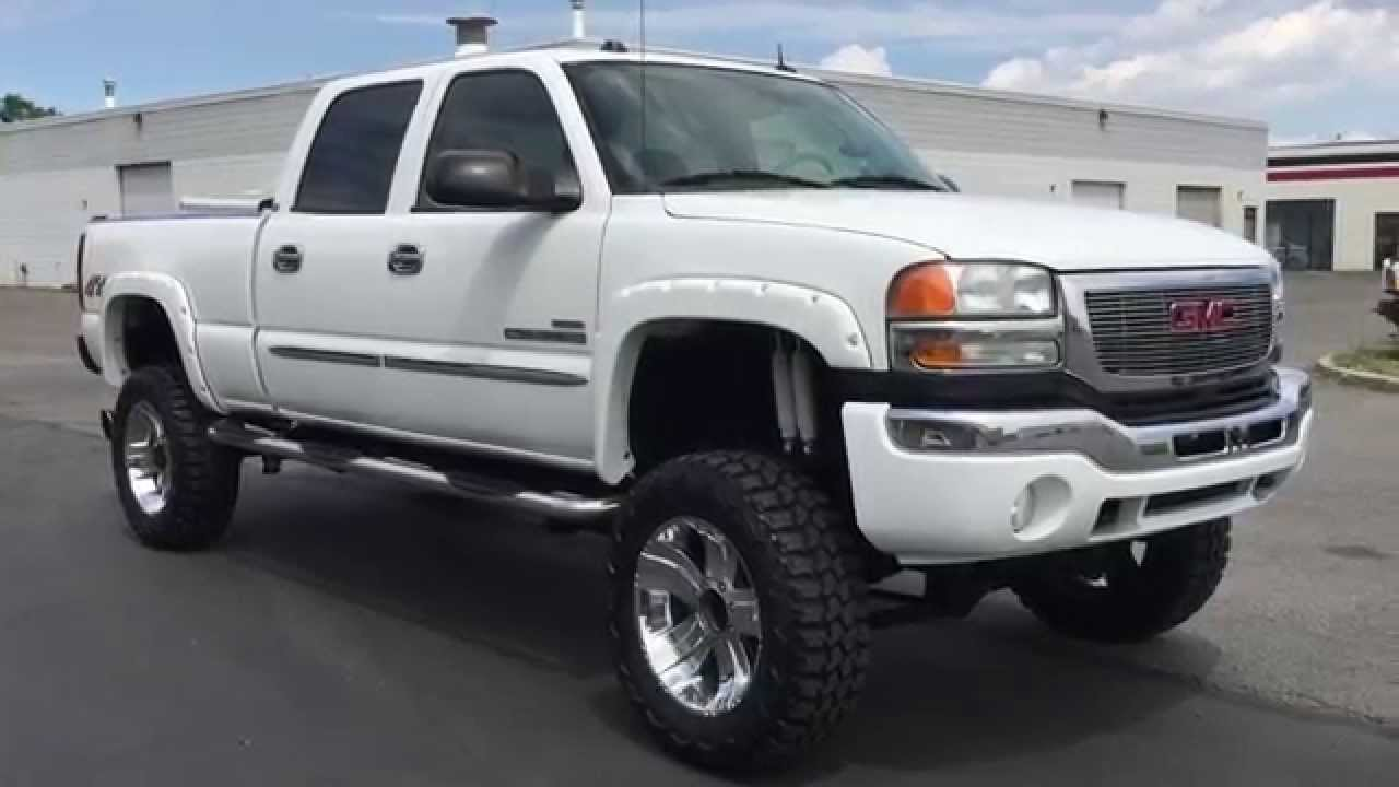 www diesel deals com 2005 gmc sierra hd 2500 crew slt 4x4 6 6 duramax turbo diesel for sale 116k. Black Bedroom Furniture Sets. Home Design Ideas