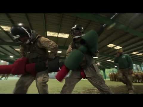 MARINE RECRUITS Fight with Pugil Sticks at MCRD Parris Island 12/8/2017