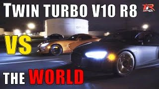Underground Racing Twin Turbo R8 V10 vs The World | TRL Private Meet and Cruise