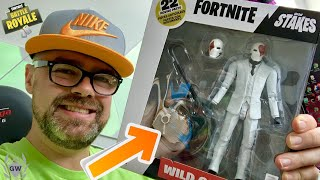McFarlane Toys Fortnite Wild Card Action Figure UNBOXING! McFarlane Fortnite High Stakes Toys!