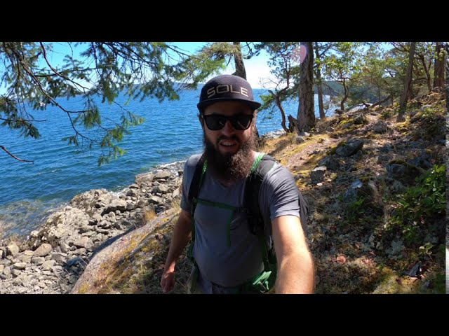 A day hike in Ruckle Provincial Park on Salt Spring Island, BC.