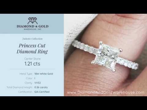 1.21 ct Princess Diamond Engagement Ring
