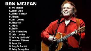 Don Mclean Greatest Hits Full Album 2020 || Best Of Don Mclean Playlist