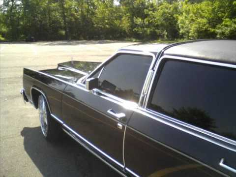 1979 Black Lincoln Town Car On 24s Youtube