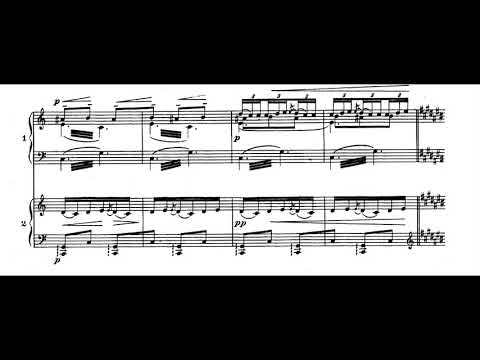 Claude Debussy - La Mer For Two Pianos (1903-05) [Score-Video]