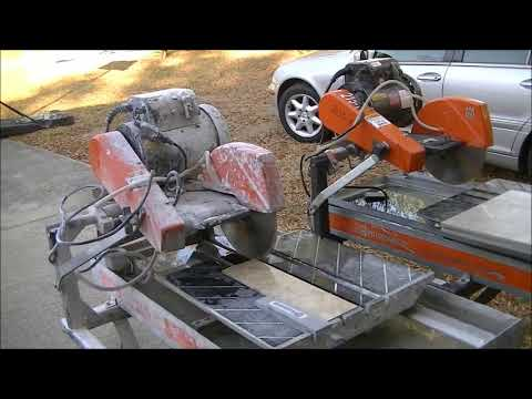 Target tile saw 15 HP. The Best Tile Saw Youtube