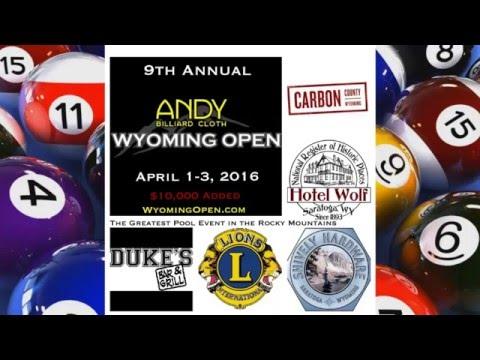 Perry Gilbert vs Adam King - 2016 Wyoming Open 8 Ball