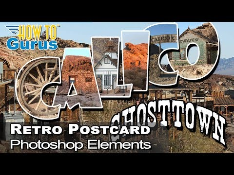 How to Make a Retro Vacation Postcard in Adobe Photoshop Elements 2018 15 14 13 12 11 Tutorial