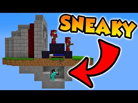 BREAKING PEOPLE'S BEDS FROM UNDERNEATH! (Minecraft Bed Wars)