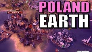 Civ 6: Poland Gameplay [True Start Earth Location Map] Let's Play Civilization 6 Poland | Part 12