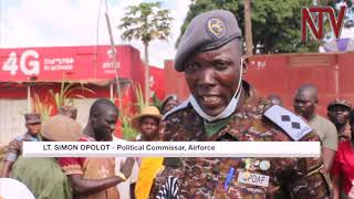 SFC soldiers clean up Entebbe Town ahead of Tarehe Sita
