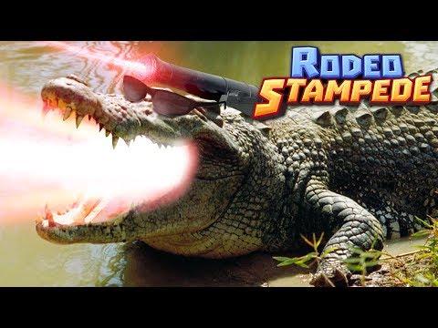 LASER CROCODILES!!! - Rodeo Stampede | Ep 3