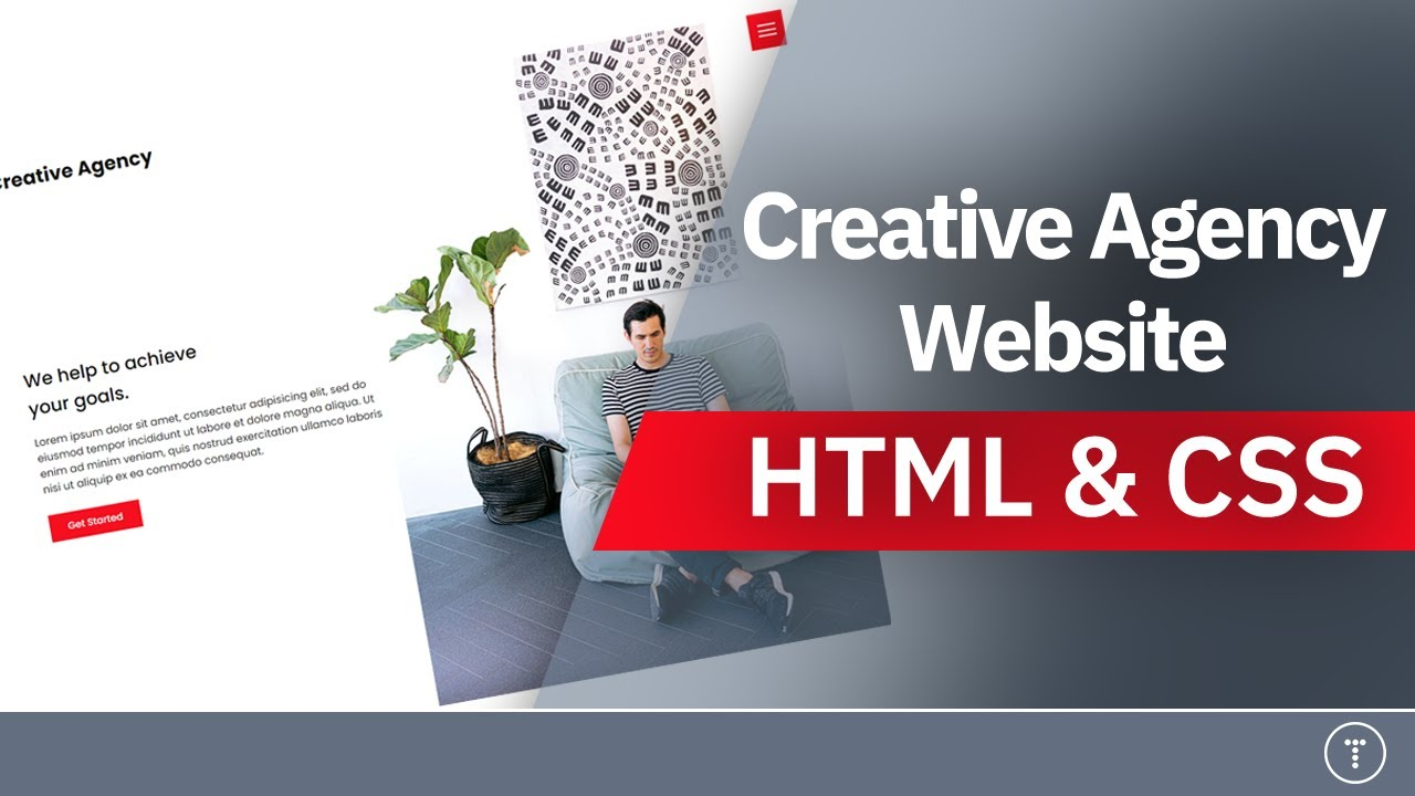 Creative Agency Website From Scratch | HTML & CSS