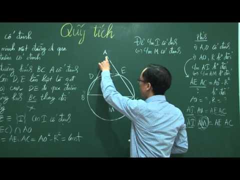 Quỹ tích - Dự đoán và chứng minh (tập hợp điểm)