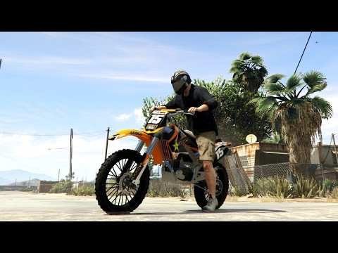 GTA V - Sanchez KTM Rockstar Kit 0 1