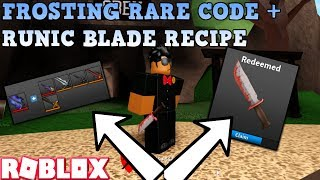 *BRAND NEW* FROSTING CODE KNIFE + RUNIC BLADE CRAFTING RECIPE + RECIPE CHANGES (ROBLOX ASSASSIN)