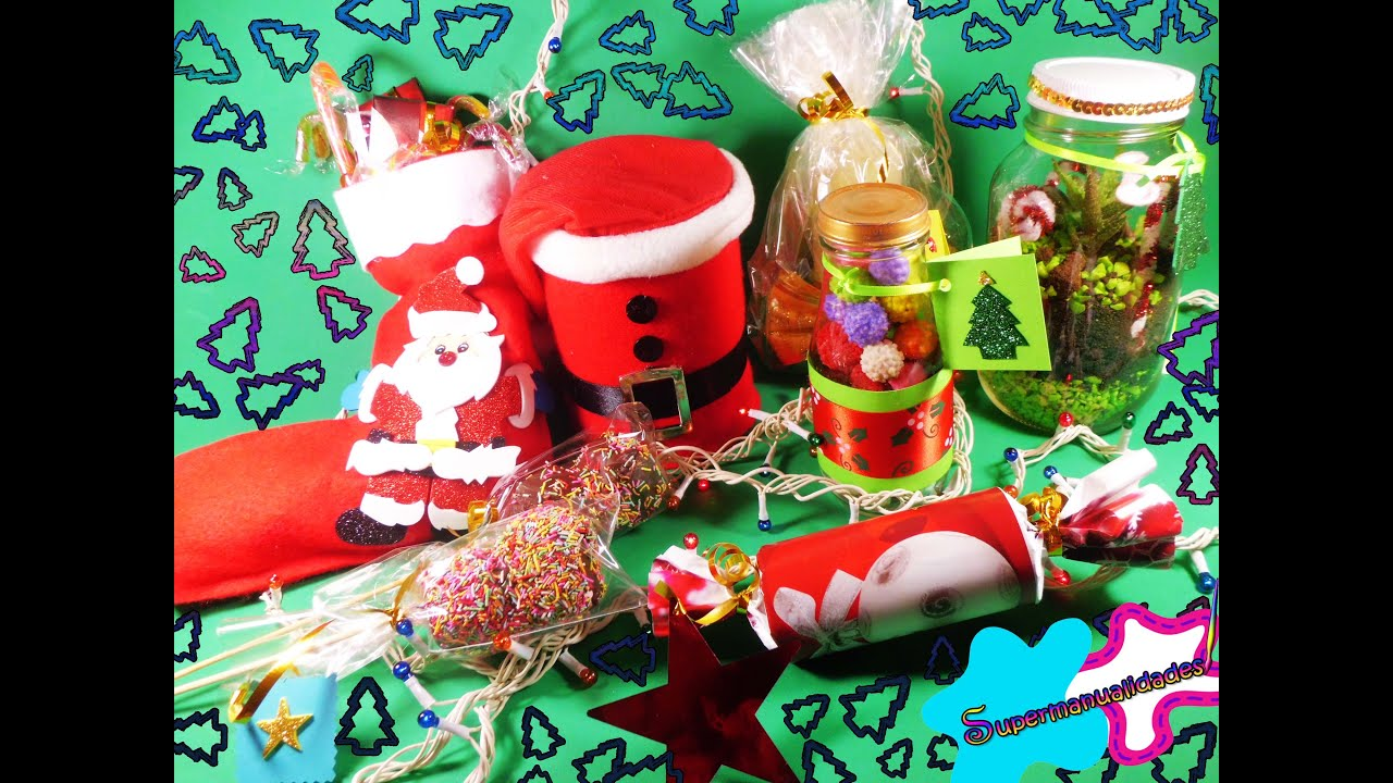 7 ideas f ciles para regalar en navidad supermanualidades for Adornos navidenos para regalar