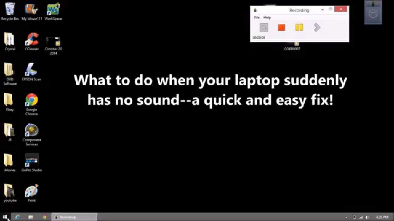 What to Do When Your Computer (Laptop) Suddenly Has No Sound Fast Fix - YouTube