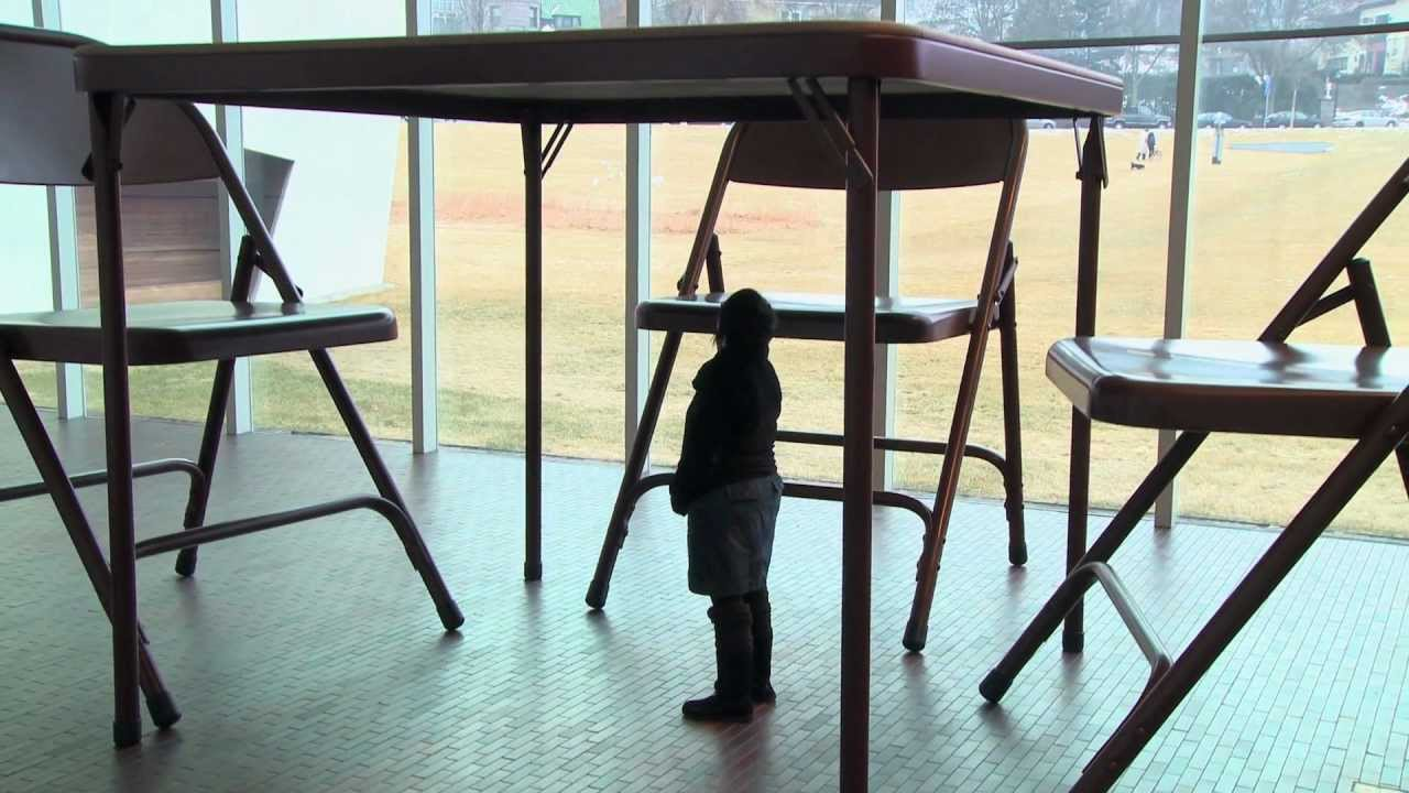 Installing Robert Therrien\'s Table and Chairs - YouTube