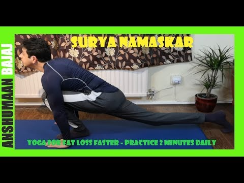 Surya Namaskar for Flat belly daily 3 minutes  10kg weight loss in 4 weeks