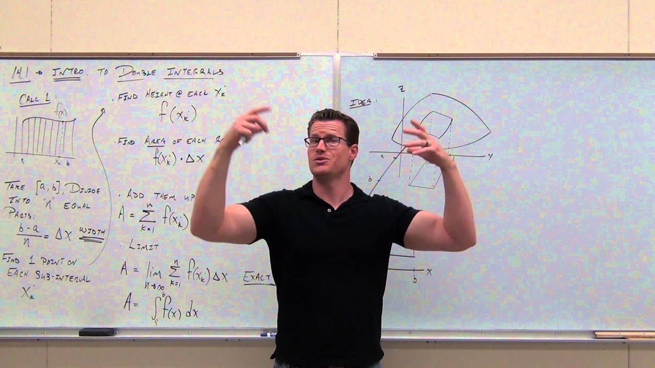 calculus 3 lecture 14 1 introduction to double integrals