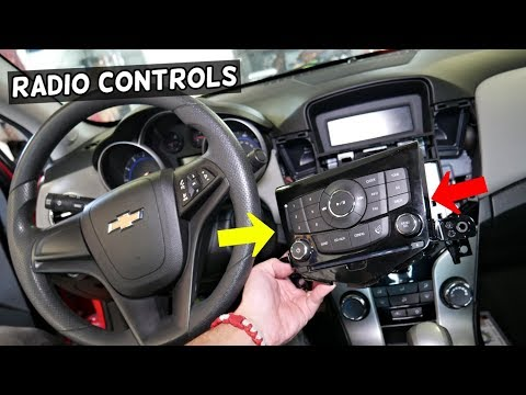 CHEVROLET CRUZE RADIO SWITCHES CONTROL REMOVAL REPLACEMENT. Chevy Cruze