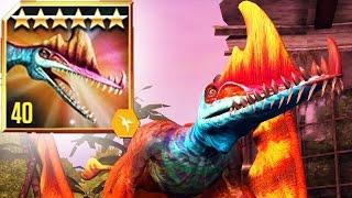 MAX LEVEL DARWINOPTERUS Battle   Jurassic World The Game