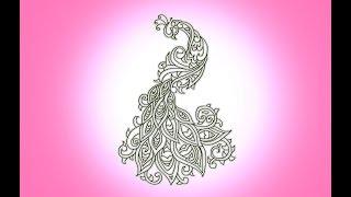 henna designs drawing