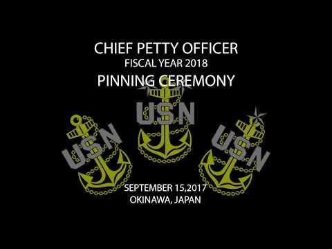 Okinawa CPO Pinning Ceremony 2017
