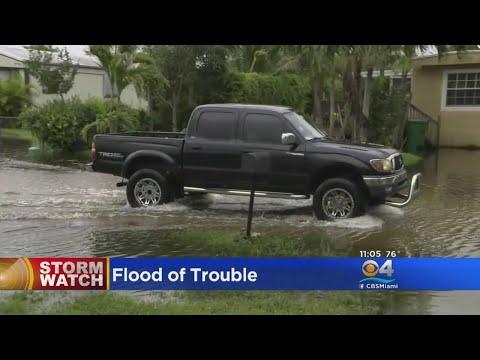 Heavy Rains Cause Flooding Across South Florida