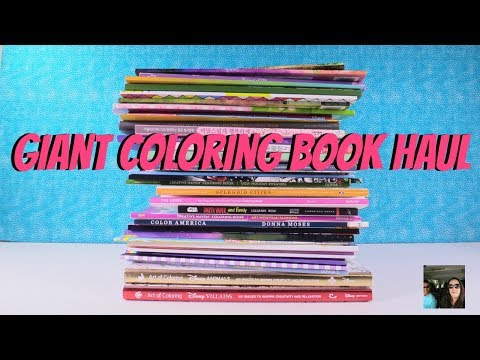 Giant Coloring Book Haul From Amazon + Completed Pages | PaulAndShannonsLife