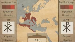 Batı Roma İmpararorluğu-(395-476)-[Harita]