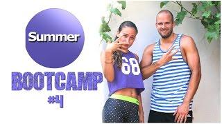 20 Min Workout zum Fett verbrennen - Dünne Oberschenkel und straffe  Arme - Sommer Bootcamp #4