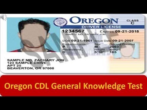 Oregon CDL General Knowledge Test