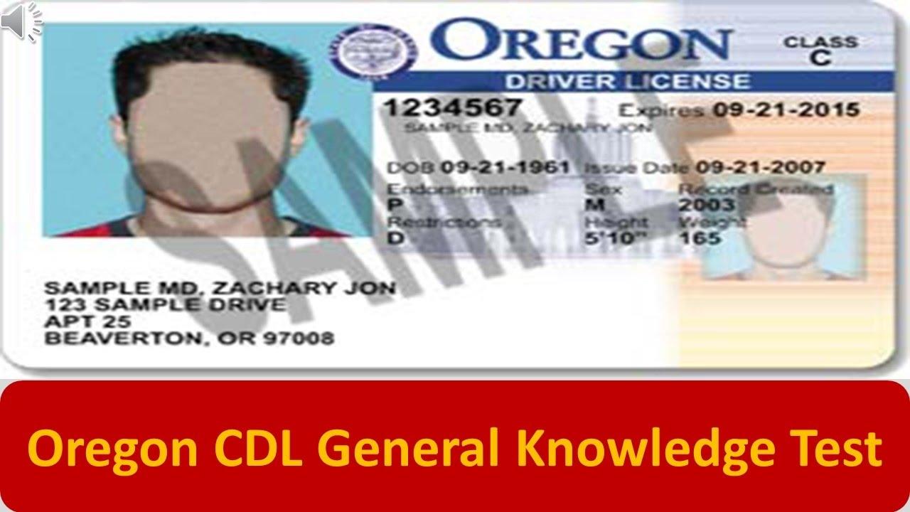 oregon cdl general knowledge test youtube rh youtube com Sample Driver S License Oregon Oregon Drivers Manual 2012