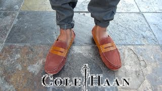 Cole Haan Air Grant Penny Loafer On Foot.